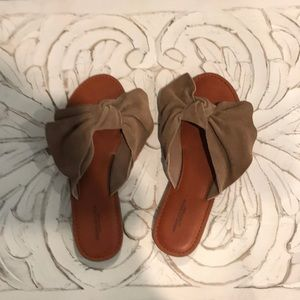 American Eagle Suede Bow Slides